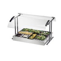 Cal Mil 2027-4-74 Silver Double Face Tabletop Sneeze Guard – 49 1/4 inch x 27 1/4 inch x 21 1/2 inch