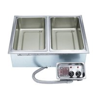 APW Wyott HFW-5D Insulated Five Pan Drop In Hot Food Well with Drain