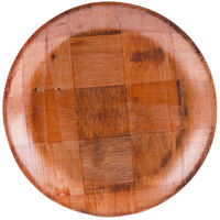 10 inch Woven Wood Plate - 12/Pack