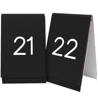 Cal-Mil 271-2 Black Replacement Engraved Number Tent Sign - 3 1/2 inch x 5 inch