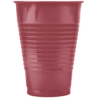 Creative Converting 28312271 12 oz. Burgundy Plastic Cup - 240 / Case