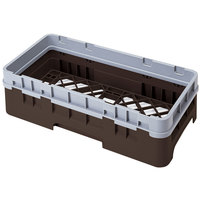 Cambro HBR414167 Brown Camrack Half Size Open Base Rack with 1 Extender