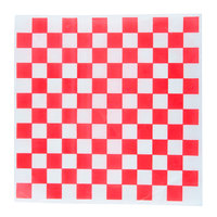"Choice 15"" x 15"" Red Check Deli Sandwich Wrap Paper   - 4000/Case"