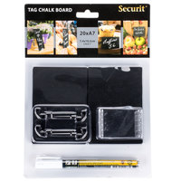 American Metalcraft TAGA7WT 4 inch x 3 inch Mini Chalk Cards and Marker Display Kit - 20/Pack