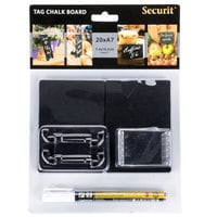 American Metalcraft TAGA7WT 4 inch x 3 inch Mini Chalk Cards and Marker Display Kit - 20 / Pack