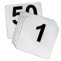 1 to 25 Stainless Steel Table Number