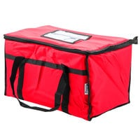 Choice 23 inch x 13 inch x 15 inch Red Insulated Nylon Food Delivery Bag / Pan Carrier