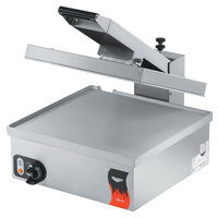 Vollrath 40793 Cayenne 17 inch x 18 inch Super Size Single Panini Sandwich Press - Smooth Aluminum Plates 120V