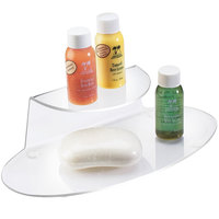 Cal-Mil 809-12 Clear One Shelf Amenity Tray - 9 3/4 inch x 4 1/2 inch x 2 1/2 inch