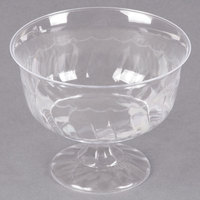 Fineline Flairware Clear 2088 8 oz. One-Piece Plastic Dessert Cup - 10/Pack