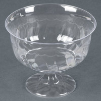 Fineline Flairware Clear 2088 8 oz. One-Piece Plastic Dessert Cup 10 / Pack