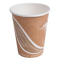 Eco Products EP-BRHC8-EW Evolution World PCF 8 oz. Hot Cups - 1000 / Case