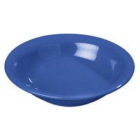Carlisle 4303614 Durus 12 oz. Ocean Blue Rimmed Melamine Bowl 24 / Case