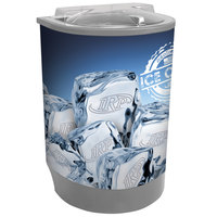 Gray Iceberg 500 60 Qt. Insulated Portable Beverage Cooler / Merchandiser with Lid, Drain, and Semicircular Design