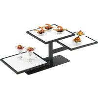 Cal-Mil 1140-13 One By One Black 3 Tier Riser Frame - 32 1/4 inch x 13 inch x 10 1/2 inch