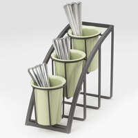 Cal Mil 1746-3-13 Black Steel Mission 3-Tier Vertical Cylinder Display – 7 inch x 13 inch x 10 3/4 inch