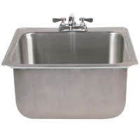 Advance Tabco DI-1-2012 Drop In Stainless Steel Sink - 20 inch x 16 inch x 12 inch Bowl