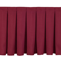 National Public Seating SB16-48 Burgundy Box Stage Skirt for 16 inch Stage - 48 inch Long