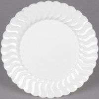 Fineline Flairware 207-WH 7 1/2 inch White Plastic Plate - 180/Case