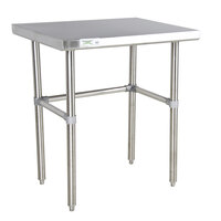 Regency 16 Gauge 24 inch x 30 inch Stainless Steel Commercial Open Base Work Table