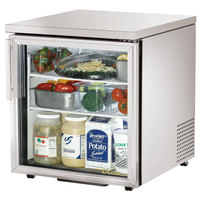 True TUC-27G-LP-HC-LD 27 inch Low Profile Glass Door Undercounter Refrigerator