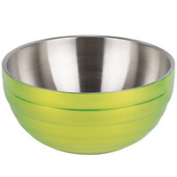 Vollrath 4658730 24 oz. Stainless Steel Double Wall Lemon Lime Round Beehive Serving Bowl