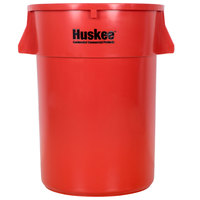 Continental 4444RD 44 Gallon Red Huskee Trash Can