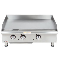 APW Wyott GGT-36I 36 inch Thermostatic Countertop Griddle - 75,000 BTU