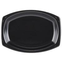 Genpak LAM79-3L Elite 9 inch x 7 inch Black Laminated Foam Platter - 500 / Case