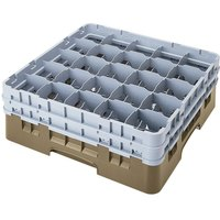 Cambro 25S1058184 Camrack 11 inch High Beige 25 Compartment Glass Rack