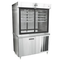 Delfield F15MC48N 48 inch Narrow Depth Refrigerated Display Case with Storage Base and Mirrored Back - 23 Cu. Ft.