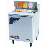 Turbo Air TST-28SD 27 inch Super Deluxe Refrigerated Sandwich / Salad Prep Table