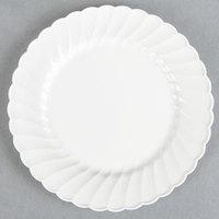 WNA Comet CW6180W Classicware 6 inch White Plastic Plate - 18 / Pack