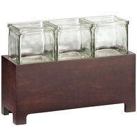 Cal-Mil 1549-6-52 Westport Three Jar Wooden Display - 12 1/2 inch x 4 3/4 inch x 6 inch