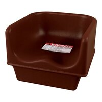 Cambro 100BC Brown Single Height Booster Seat