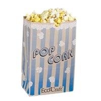 Bagcraft Papercon 300612 5 1/2 inch x 3 1/4 inch x 8 5/8 inch 85 oz. EcoCraft Popcorn Bag - 500 / Case