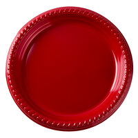 Dart Solo PS95R-0099 9 inch Red Plastic Plate 25 / Pack