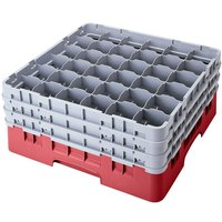 Cambro 36S1114416 Cranberry Camrack 36 Compartment 11 3/4 inch Glass Rack