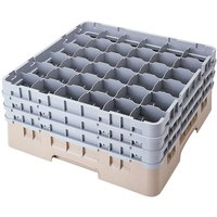 Cambro 36S1058184 Beige Camrack 36 Compartment 11 inch Glass Rack