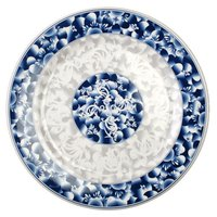 Blue Dragon 14 1/8 inch Round Melamine Plate - 12 / Pack