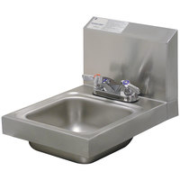 Advance Tabco 7-PS-22 Space Saving Hand Sink with Deck Mount Faucet - 12 inch x 16 inch