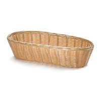 Tablecraft 1113W 13  x 5 inch Oblong Rattan-Like Basket - 3 / Pack