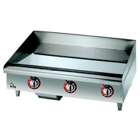 Star Max 636TCHSF 36 inch Countertop Gas Griddle with Chrome Plate Thermostatic Controls - 84,900 BTU