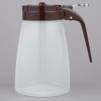 Tablecraft PP10B 10 oz. Polypropylene Syrup Dispenser with Brown ABS Top - 12/Pack
