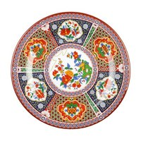 Peacock 6 7/8 inch Round Melamine Plate - 12 / Pack