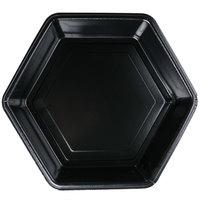 Genpak HX010-3L Smart-Set 10 3/10 inch x 1 3/4 inch Black Hexagonal Foam Serving Platter - 200/Case