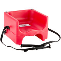 Cambro 200BCS158 Dual Seat Booster Chair with Strap - Hot Red