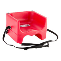Cambro 200BCS Dual Seat Booster Chair with Strap - Hot Red