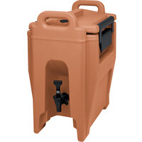 Cambro UC250157 Coffee Beige Ultra Camtainer 2.75 Gallon Insulated Beverage Dispenser