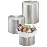 Tablecraft RR3 3 Piece Round Stainless Steel Riser